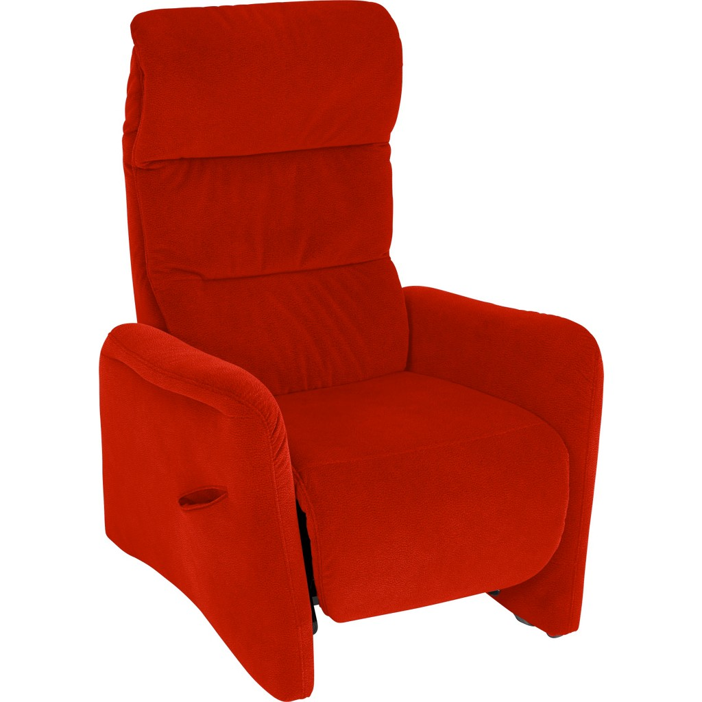 FERNSEHSESSEL in Rot Textil