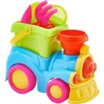 SANDSPIELZEUG LOKOMOTIVE - 8 TEILIG - Multicolor, Kunststoff (24/15/21cm) - MY BABY LOU
