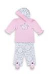 BABYBEKLEIDUNGSSET - Pink/Grau, Textil - MY BABY LOU