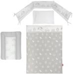 GITTERBETTSET - Weiß/Grau, Kunststoff/Textil - MY BABY LOU