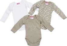 BABYBODY-SET 3-teilig - Taupe, Textil (50/56) - MY BABY LOU