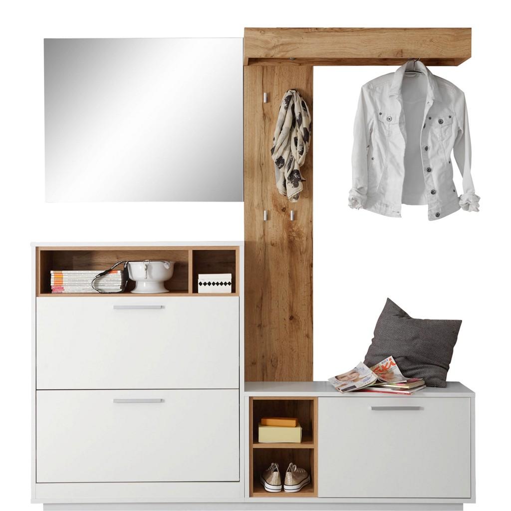 garderobe hutablage wei preisvergleich die besten angebote online kaufen. Black Bedroom Furniture Sets. Home Design Ideas
