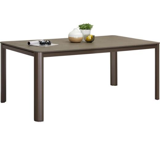 gartentisch metall stein grau kastanienfarben online. Black Bedroom Furniture Sets. Home Design Ideas
