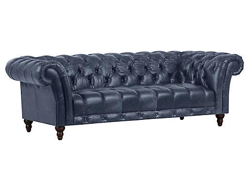 Megasofa blau  Chesterfield Megasofa Echtleder Blau, Grau online kaufen ➤ XXXLShop