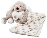 SCHMUSEDECKE 90/75 cm - Taupe/Weiß, Textil (90/75cm) - MY BABY LOU
