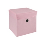SPIELZEUGBOX 32/32/32 cm - Rosa, Holz/Kunststoff (32/32/32cm) - MY BABY LOU