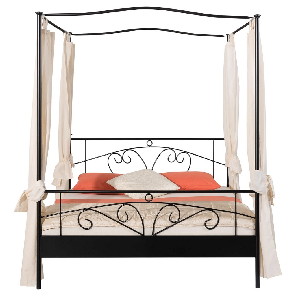 himmelbett 90 200 metall. Black Bedroom Furniture Sets. Home Design Ideas