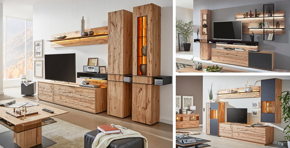 Holz Im Wohnzimmer Natuumlrlich Schoumln