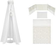 GITTERBETTSET - Taupe/Weiß, Textil - MY BABY LOU