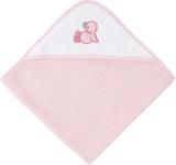 KAPUZENBADETUCH - Rosa/Weiß, Textil (80/80cm) - MY BABY LOU