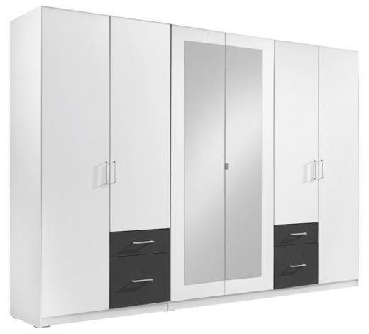 kleiderschrank 6 t rig anthrazit wei online kaufen xxxlshop. Black Bedroom Furniture Sets. Home Design Ideas