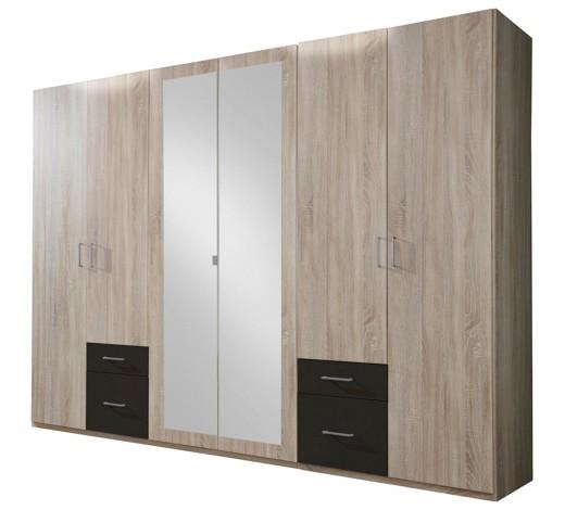 kleiderschrank 6 t rig braun eichefarben online kaufen xxxlshop. Black Bedroom Furniture Sets. Home Design Ideas