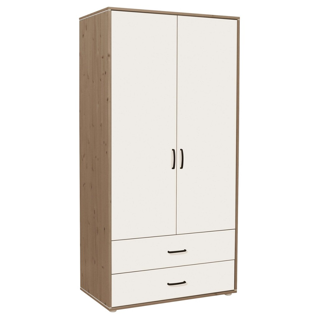 kleiderschrank kiefer massiv weiss preisvergleich die besten angebote online kaufen. Black Bedroom Furniture Sets. Home Design Ideas