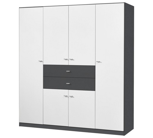 kleiderschrank 6 t rig grau wei online kaufen xxxlshop. Black Bedroom Furniture Sets. Home Design Ideas