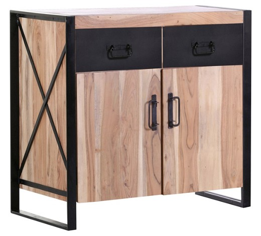 kommode akazie massiv gebeizt lackiert naturfarben schwarz online kaufen xxxlshop. Black Bedroom Furniture Sets. Home Design Ideas