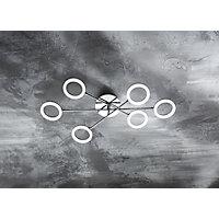 LED SVJETILJKA STROPNA - boje kroma, Design, metal/plastika (76/15/13cm) - NOVEL