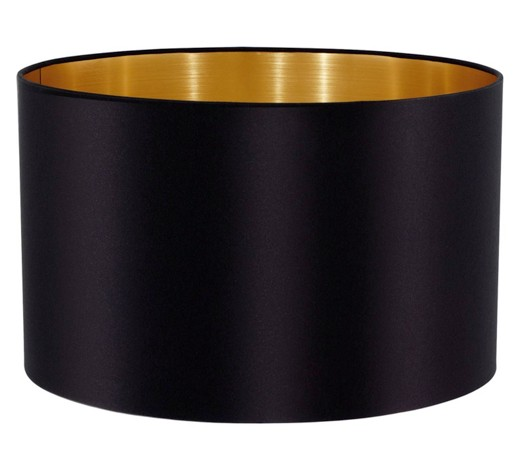 leuchtenschirm goldfarben schwarz textil e27 online. Black Bedroom Furniture Sets. Home Design Ideas