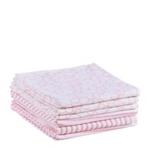 STOFFWINDEL STRIPES & BEAR - Rosa/Weiß, Textil (75/75cm) - MY BABY LOU