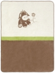 SCHMUSEDECKE 75/100 cm - Creme/Braun, Textil (75/100cm) - MY BABY LOU