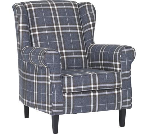 ohrensessel webstoff dunkelgrau wei online kaufen xxxlshop. Black Bedroom Furniture Sets. Home Design Ideas