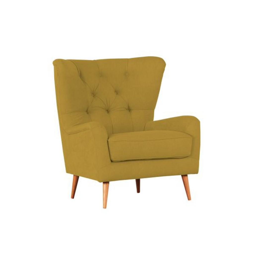 OHRENSESSEL in Gelb Textil