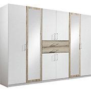 ORMAR ZA ODJEĆU - bijela/boje hrasta, Design, staklo/drvni materijal (270/210/58cm) - HOM IN
