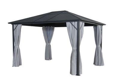 metall pavillon mit festem dach. Black Bedroom Furniture Sets. Home Design Ideas