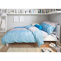 POVLEČENÍ - modrá, Moderní, textil (140/200cm) - BOXXX