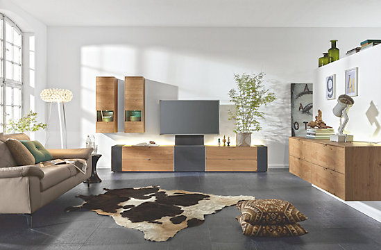 tv-element eiche furniert - markenmöbel online kaufen, Gestaltungsideen