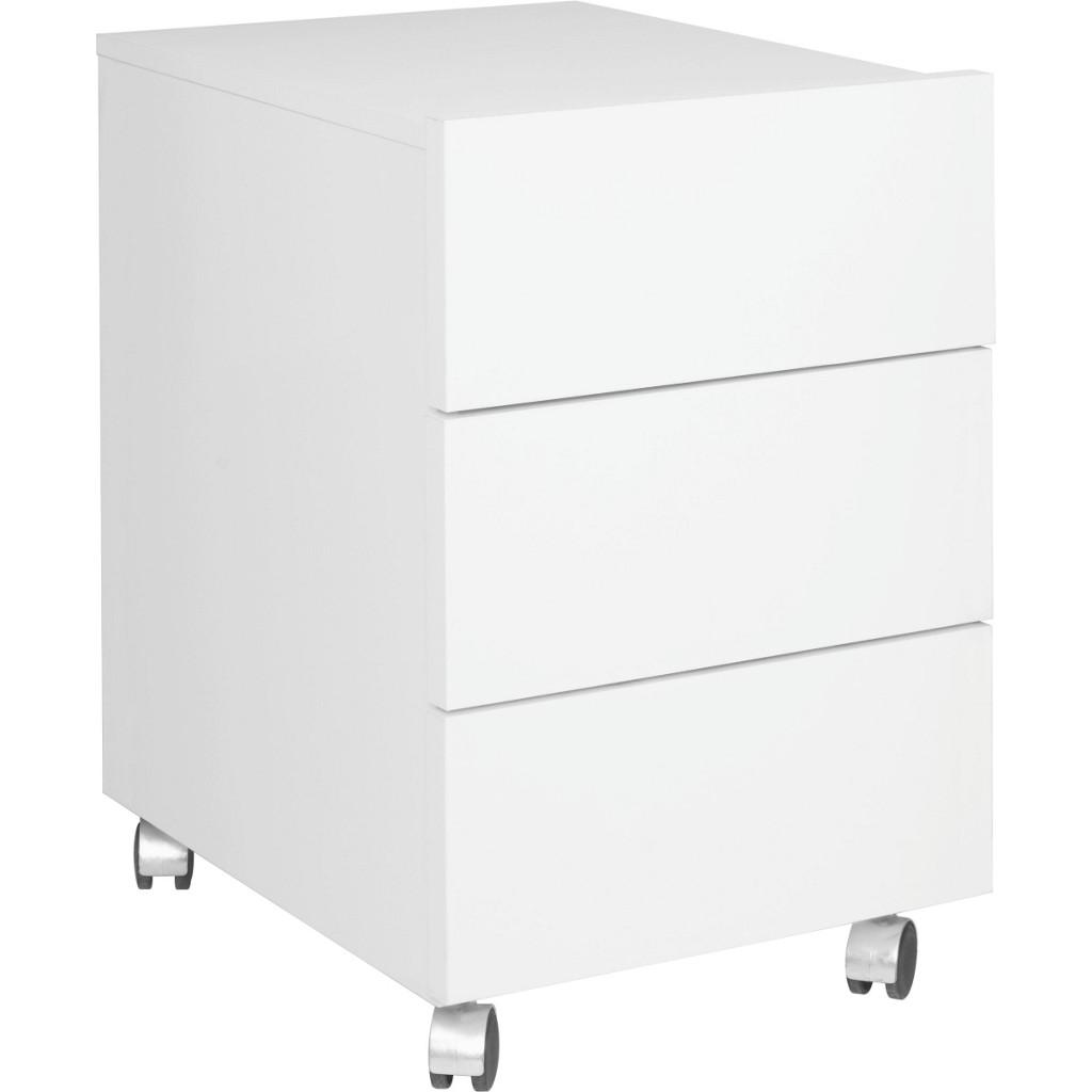 Rollcontainer metall wei for Schreibtisch container metall