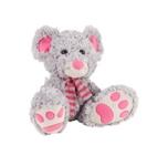 PLÜSCHTIER Maus - Pink/Grau, Textil (23cm) - MY BABY LOU