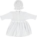 Taufkleid mit Mütze - Weiß, Textil (62) - MY BABY LOU