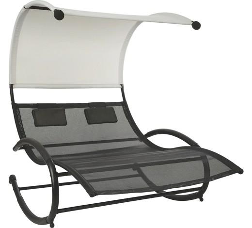 schaukelliege stahl pulverbeschichtet hellgrau schwarz online kaufen xxxlshop. Black Bedroom Furniture Sets. Home Design Ideas