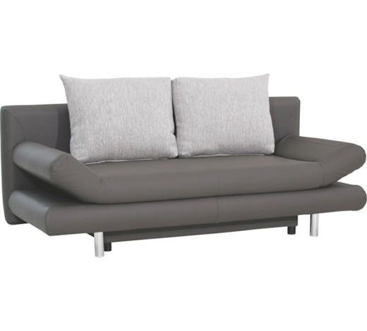 schlafsofa lederlook grau hellgrau online kaufen xxxlshop. Black Bedroom Furniture Sets. Home Design Ideas