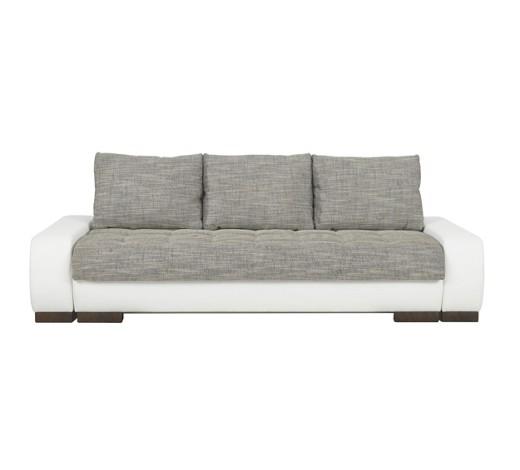 schlafsofa lederlook webstoff grau wei online kaufen. Black Bedroom Furniture Sets. Home Design Ideas