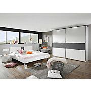 SCHLAFZIMMER In Dunkelgrau, Weiß   Dunkelgrau/Weiß, Design,  Glas/Holzwerkstoff