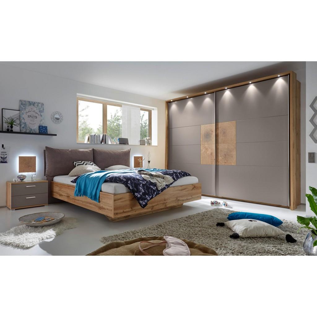 Shopthewall schlafzimmer mit bett 180 x 200 cm pinie weiss for Xora m bel hersteller