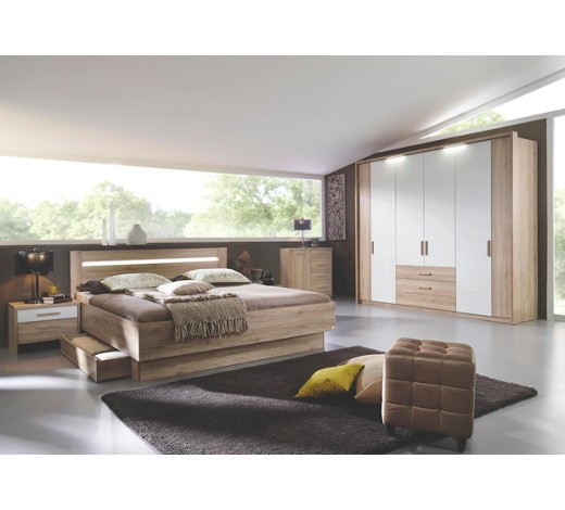 schlafzimmer eichefarben wei online kaufen xxxlshop. Black Bedroom Furniture Sets. Home Design Ideas
