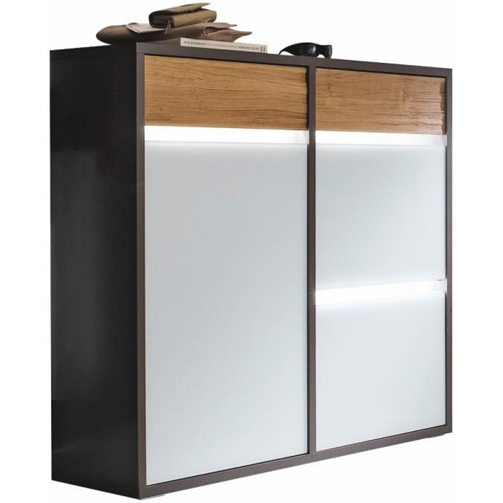 gro z gig schuhschrank glasfront zeitgen ssisch die. Black Bedroom Furniture Sets. Home Design Ideas