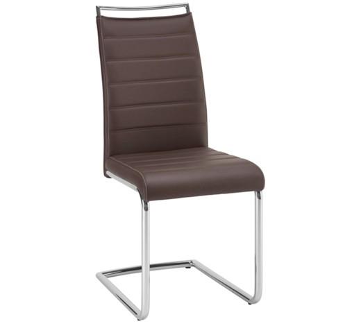 schwingstuhl lederlook braun chromfarben online kaufen. Black Bedroom Furniture Sets. Home Design Ideas