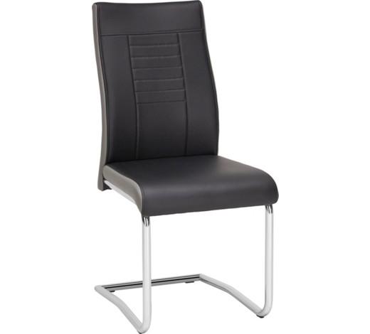 schwingstuhl lederlook grau schwarz online kaufen xxxlshop. Black Bedroom Furniture Sets. Home Design Ideas