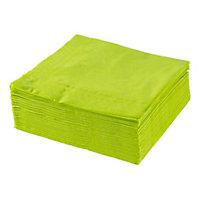 SERVETT - lime, Klassisk, papper (40/40cm) - XXXLPACK