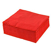 SERVETT - röd, Klassisk, papper (40/40cm) - XXXLPACK