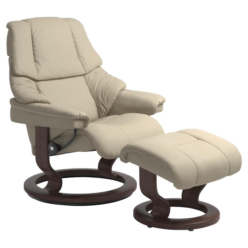 STRESSLESS Sesselset Reno L Echtleder Hocker, Weiß bei XXXL Einrichtungshäuser - Shop