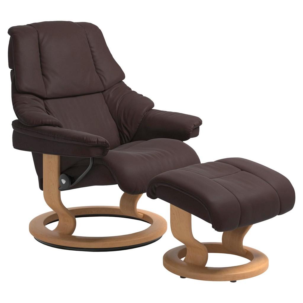 STRESSLESS Sesselset Reno S Echtleder Hocker, braun bei XXXL Einrichtungshäuser - Shop