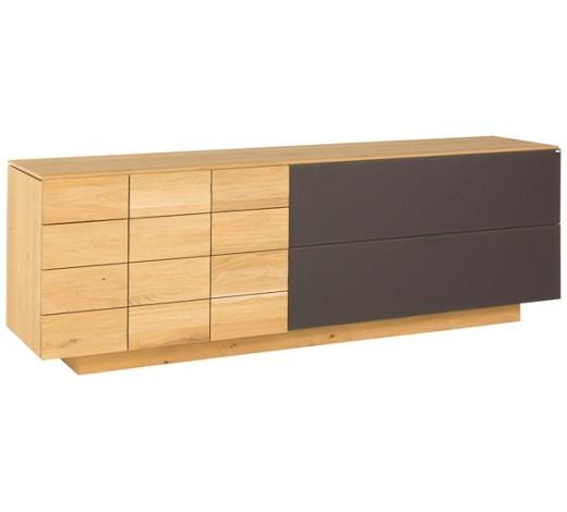 sideboard wildeiche massiv mehrschichtige massivholzplatte tischlerplatte ge lt eichefarben. Black Bedroom Furniture Sets. Home Design Ideas