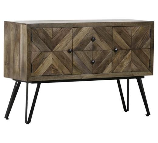 sideboard mangoholz teilmassiv gebeizt lackiert braun. Black Bedroom Furniture Sets. Home Design Ideas