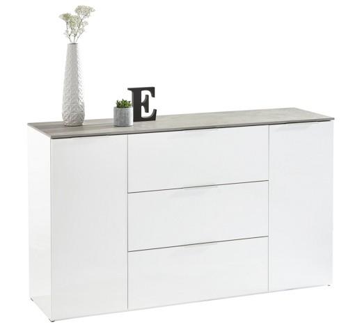 sideboard hochglanz grau wei online kaufen xxxlshop. Black Bedroom Furniture Sets. Home Design Ideas