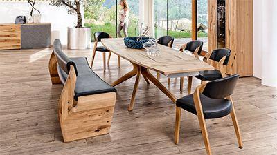 Großartig Esszimmer Holz Leder Schwarz