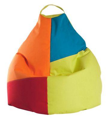 Schön Sitzsack In Blau, Gelb, Orange, Rot Textil